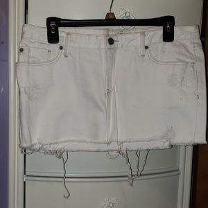 A&F White Denim Skirt Sz 8